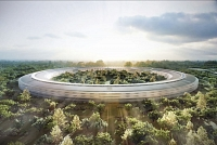 L'Apple Park, siège d'Apple à Cupertino en Californie