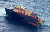 Le porte-conteneurs Rena brisé en deux en 2012