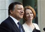 Europe : barroso souligne la détermination de la zone euro
