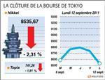 La bourse de tokyo finit en baisse de plus de 2%