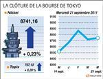 Tokyo : la bourse de tokyo finit en hausse prudente de 0,23%