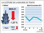 Tokyo : la bourse de tokyo finit en nette baisse, olympus plonge