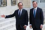 Marché : L'Elysée se félicite du diagnostic partagé de Hollande et Draghi