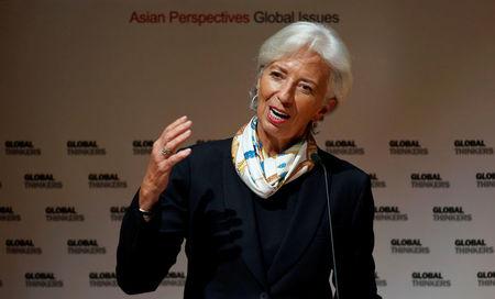 Marché: Lagarde optimiste sur la croissance redoute le protectionnisme