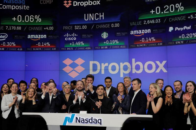 Dropbox décolle de 45% pour sa grande première à Wall Street