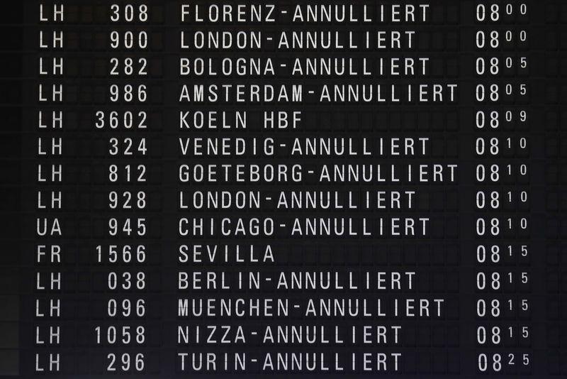 Fraport : Grève annoncée dans les aéroports allemands mardi