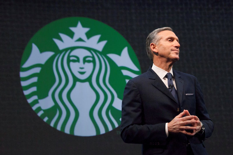 Marché: Le président de Starbucks Howard Schultz prend du champ